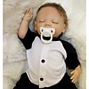 hesapli Yeniden Doğmuş Bebekler-OtardDolls Yeniden Doğmuş Bebekler Erkek Bebeklerin 18 inç Silikon - Yeni doğan canlı Çevre-dostu Hediye Çocuk Kilidi Non Toxic Kid Unisex / Genç Kız Oyuncaklar Hediye / CE / Disket kafa