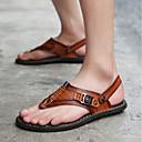 tanie Męskie klapki i japonki-Męskie Komfortowe buty PU Lato Sandały Czarny / brązowy / Niebieski