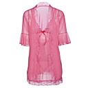 billige Armbånd-Dame Sexy Uniformer og kinesiske kjoler Nattøy - Ensfarget, Trykt mønster / V-hals