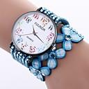 cheap Women's Boots-Women's Bracelet Watch Chinese Casual Watch / Imitation Diamond PU Band Flower / Fashion Black / White / Blue / One Year