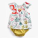 זול אוברולים טריים לתינוקות-סט של בגדים ללא שרוולים פרחוני יוניסקס תִינוֹק