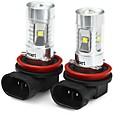 baratos Luzes laterais-SENCART 2pcs H8 Motocicleta / Carro Lâmpadas 30W SMD LED 1800-2100lm 6 LED Luz Anti Neblina For Universal Todos os Anos