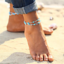 cheap Anklet-Turquoise Anklet - Vintage, Bohemian, Tropical Gold / Silver For Gift / Bikini