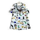 tanie Topy dla dziewczynek-Dzieci Dla dziewczynek Aktywny Geometric Shape Krótki rękaw Sukienka Biały