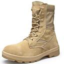זול נעלי ספורט לגברים-בגדי ריקוד גברים מגפיי קרב סוויד סתיו / חורף מגפיים טיפוס מגפיים באורך אמצע - חצי שוק שחור / בז'