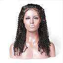 hesapli Gerçek Saç Örme Peruklar-Kökten Saç Ön Dantel Peruk Düz Brezilya Saçı / Kinky Kıvırcık Bukle % 130 Yoğunluk Kadın's Uzun Gerçek Saç Örme Peruklar