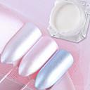 billige Nail Glitter-3stk Glitter Til Glansigt Negle kunst Manicure Pedicure Mirror Effect / Nail Glitter Bryllup / Fest