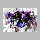 cheap Animal Paintings-Oil Painting Hand Painted - Abstract / Floral / Botanical Comtemporary / Modern Canvas