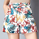 abordables Tocados de Fiesta-Mujer Activo Shorts Pantalones - Geométrico / Animal Hoja tropical
