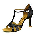 cheap Latin Shoes-Women's Latin Shoes / Salsa Shoes Sparkling Glitter / Leatherette Sandal / Heel Buckle / Ribbon Tie Customized Heel Customizable Dance