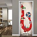 tanie Naklejki ścienne-Naklejki na drzwi - Naklejki ścienne 3D Piłka nożna / 3D Salon / Sypialnia / Łazienka