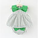 povoljno Haljinice za bebe-Dijete Djevojčice Na točkice Geometrijski oblici Bez rukávů Haljina