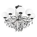 cheap Wall Murals-Lightinthebox 9-Light Candle-style Chandelier Uplight Electroplated Metal Glass Crystal 110-120V / 220-240V Bulb Not Included / E26 / E27