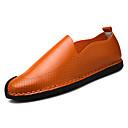 tanie Oksfordki męskie-Męskie Komfortowe buty Sztuczna skóra / PU Wiosna / Lato Mokasyny i buty wsuwane Czarny / Pomarańczowy / Beżowy