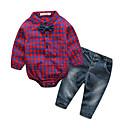 ieftine Top Băieți Bebeluși-Bebelus Băieți Șic Stradă Imprimeu Manșon Lung Set Îmbrăcăminte