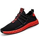 tanie Męskie obuwie sportowe-Męskie Komfortowe buty Dzianina / Tiul Lato Adidasy Czarny biały / Czarny czerwony