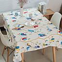זול משטחי שולחן-עכשווי PVC / כותנה ריבוע כיסויי שולחן גיאומטרי / מעוטר לוח קישוטים 1 pcs