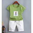 ieftine Seturi Îmbrăcăminte Băieți-Copii Băieți Imprimeu / Peteci Manșon scurt Set Îmbrăcăminte