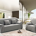 זול כיסויים-כיסוי ספה לחיפוי ספה מכסה ספה פוליאסטר בהדפס תגובתי בצבע אפור בצבע אחיד