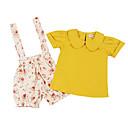 ieftine Seturi Îmbrăcăminte Fete-Copil Fete Floral / Imprimeu Manșon scurt Set Îmbrăcăminte