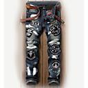 ieftine Maieu & Tricouri Bărbați-Bărbați Șic Stradă Blugi Pantaloni Scrisă