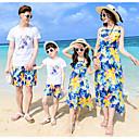 ieftine Set Îmbrăcăminte De Familie-Copii Familie Uite Floral Fără manșon / Manșon scurt Set Îmbrăcăminte