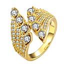 ieftine Cercei la Modă-1 buc May Polly Cool Auriu / Pentru femei / Diamant sintetic / Band Ring / Placat Auriu / Placat Auriu