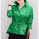 preiswerte Modische Ohrringe-Damen Solide Baumwolle Hemd, Hemdkragen