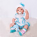 ieftine Păpuși-OtardDolls Păpuși Renăscute Bebe Fetiță 20 inch natural, Artificial Implantation Brown Eyes Lui Kid Fete Cadou