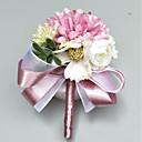 preiswerte Hochzeitsblumen-Hochzeitsblumen Knopflochblumen / Armbandblume Hochzeit / Party Polyester 3.94 Zoll