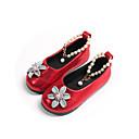povoljno Cipele za djevojčice-Djevojčice Cipele PU Proljeće ljeto Udobne cipele / Obuća za male djeveruše Ravne cipele Hodanje Biser / Cvijet za Tinejdžer Crn / Crvena / Pink