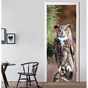 Χαμηλού Κόστους Κάρτες Μνήμης-Διακοσμητικά αυτοκόλλητα τοίχου / Αυτοκόλλητα πόρτας - Διακοπών Αυτοκόλλητα Τοίχου Ζώα / 3D Σαλόνι / Υπνοδωμάτιο