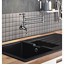 billige Uttrekkbar Spray-Kjøkken Kran / Baderom Sink Tappekran - To Håndtak et hull Krom Køkkenkran Veggmontering