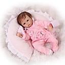 ieftine Păpuși-NPKCOLLECTION Păpuși Renăscute Bebe Fetiță 18 inch Ecologic Cadou Siguranță Copii Non Toxic Cuie cu buzunare și sigilate Tonul natural al pielii Lui Kid Fete Jucarii Cadou