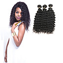 olcso Emberi hajból készült copfok-3 csomag Indiai haj Hullámos 10A 100% Remy hajszövési csomó Emberi haj tincsek 8-30 hüvelyk Természet fekete Emberi haj sző Csillogó Új design 100% Szűz Human Hair Extensions Női