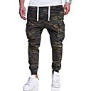 abordables Pantalons & Shorts Homme-Homme Basique / Militaire Grandes Tailles Coton Mince Chino / Pantalon cargo Pantalon - Bloc de Couleur / camouflage Imprimé Vert Véronèse / Fin de semaine