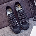 cheap Women's Sneakers-Women's Shoes Canvas Spring Comfort Sneakers Flat Heel White / Black