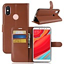 cheap Cell Phone Cases & Screen Protectors-Case For Xiaomi Redmi S2 / Mi 8 Wallet / Card Holder / Flip Full Body Cases Solid Colored Hard PU Leather for Xiaomi Redmi Note 5A / Xiaomi Redmi Note 5 Pro / Xiaomi Redmi Note 5