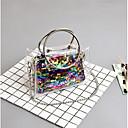 preiswerte Bahn Lichter-Damen Taschen PVC Bag Set 2 Stück Geldbörse Set Paillette Rosa / Regenbogen / Silber