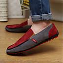 tanie Oksfordki męskie-Męskie Komfortowe buty Zamsz Lato Mokasyny i buty wsuwane Zieleń wojskowa / Czerwony
