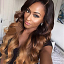 cheap Human Hair Wigs-Remy Human Hair Lace Front Wig Wig Brazilian Hair Wavy Layered Haircut 130% Density With Baby Hair / Ombre Hair / Natural Hairline Brown Women's Short / Long / Mid Length Human Hair Lace Wig