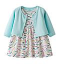 ieftine Set Îmbrăcăminte Bebeluși-Bebelus Fete Activ Imprimeu Manșon Lung Bumbac Set Îmbrăcăminte / Copil