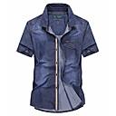 זול תיקי ערב וקלאצ'ים-קולור בלוק בסיסי חולצה - בגדי ריקוד גברים טלאים