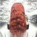 ieftine Peruci Păr Uman-Păr Remy Față din Dantelă Perucă Păr Peruvian / Stil Ondulat Ondulat Perucă 130% Linia naturală de păr / Cu noduri albite Pentru femei Lung Peruci Păr Uman