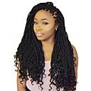 """cheap Hair Braids-Braiding Hair Wavy Twist Braids / Curly Braids / Pre-loop Crochet Braids Synthetic Hair 1 Piece, 24 roots / pack Hair Braids 18"""" Dreadlock Extensions / 100% kanekalon hair / Crochet Faux Dreads"""