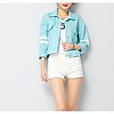 זול בגדי ריצה-אחיד בסיסי ז'קטים מג'ינס - בגדי ריקוד נשים, קפלים
