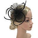 billige Kvinders Brocher-Dame Mode / Elegant Hårclips / fascinator Blomst / Net, Ensfarvet