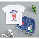 ieftine Top Băieți Bebeluși-Bebelus Băieți Geometric Manșon scurt Set Îmbrăcăminte