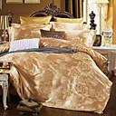 cheap High Quality Duvet Covers-Duvet Cover Sets Luxury Silk / Cotton Blend Jacquard 4 PieceBedding Sets / 4pcs (1 Duvet Cover, 1 Flat Sheet, 2 Shams)