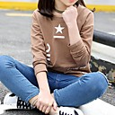 tanie Zestawy ubrań dla dziewczynek-Dzieci Dla dziewczynek Podstawowy Geometric Shape Nadruk Długi rękaw Bawełna Bluzy